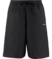 ptrcrs by christian petrini cotton ripstop bermuda shorts