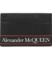 alexander mcqueen card holder printed