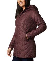 columbia copper crest fleece-lined hooded coat