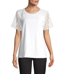 lace-panel tee
