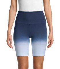 marc new york performance women's ombre bike shorts - blue combo - size l