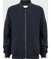 chaqueta calvin klein bomber azul - calce regular