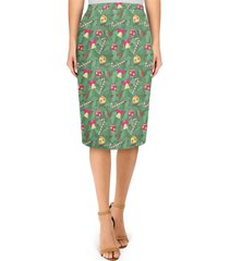 christmas tree midi pencil skirt