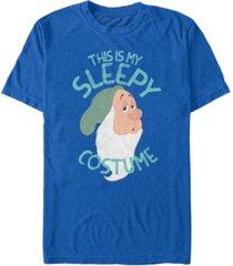 disney men's snow white and the seven dwarfs sleepy halloween costume short sleeve t-shirt