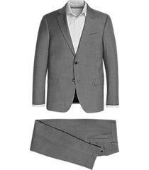 tommy hilfiger gray & white stripe slim fit suit