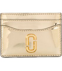 marc jacobs snapshot mirrored card case - gold