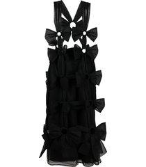 comme des garçons noir kei ninomiya tulle bow shoulder-strap skirt -