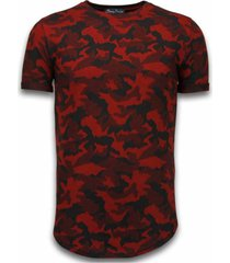camouflage pattern aired slim fit t-shirt