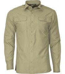 camisa manga larga con bolsillo de tapeta khaki kannú
