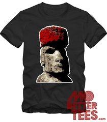 easter island head black t-shirt