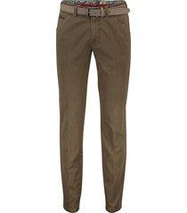 5-pocket broek meyer bruin met riem
