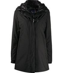 fay duffle coat - black
