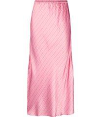 cecilie copenhagen gyrith satin midi skirt - pink