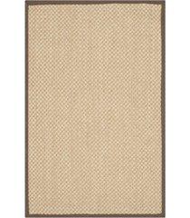 safavieh natural fiber maize and brown 2' x 3' sisal weave area rug