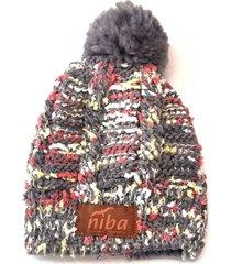 gorro de lana arrayan gris niba
