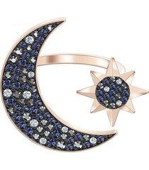 anillo de luna simbólica swarovski, multicolor 5513222