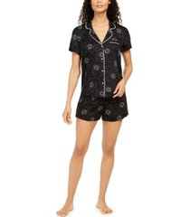 alfani women's printed pajama shorts set, created for macy's