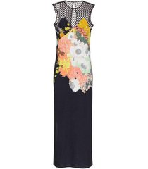 dorsey mesh-yoke maxi dress