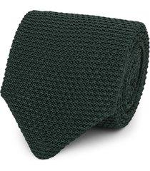 reiss jackson - silk knitted tie in emerald, mens