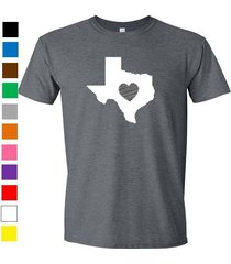 texas shirt love home heart t-shirt funny humor state apparel college