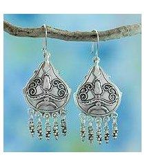 sterling silver chandelier earrings, 'gypsy' (mexico)