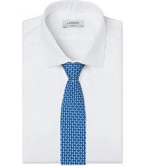 cravatta su misura, lanieri, optical seta blu, quattro stagioni