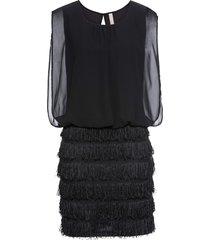 abito con pizzo e frange (nero) - bodyflirt boutique