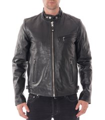 schott nyc classic racer black leather jacket lc940d