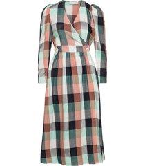donna puff dress dresses wrap dresses multi/mönstrad storm & marie