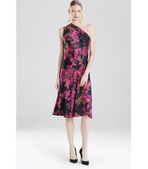 delphine dress, women's, black, silk, size 2, josie natori