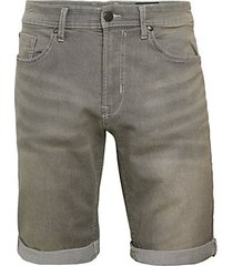 evan-x rolled cuff denim shorts