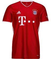 bayern munich men's home jersey t-shirts football shirts rood adidas performance