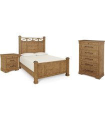 trisha yearwood homecoming post bedroom collection 3-pc. set (king bed, nightstand & chest)