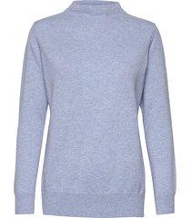 funnel neck sweater gebreide trui blauw davida cashmere