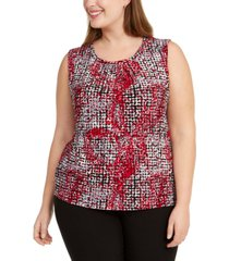 kasper plus size printed top