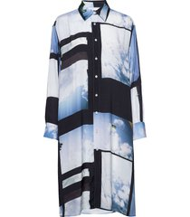 free shirt jurk knielengte blauw hope