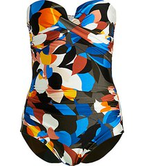 stained glass bandeau one-piece swimsuit