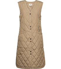 crmelika quilted waistcoat vests padded vests silver cream