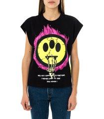 barrow t-shirt donna crop ped t-shirt woman 029290.110