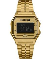 reloj dorado reebok nerd vintage digital