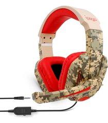 audifonos diadema gamer ipega r005 camuflado con microfono