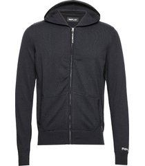basic cotton wool - 12 gg stickad tröja cardigan blå replay