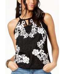 inc sheer lace top, created for macy's