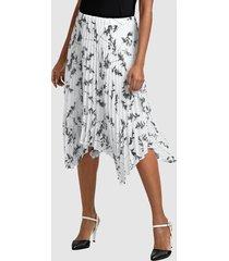 kjol alba moda vit::svart
