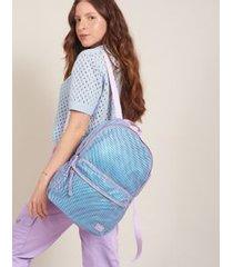 mochila tela esportiva - lilas u