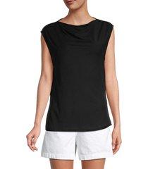 rta women's selma cowlneck top - black - size s
