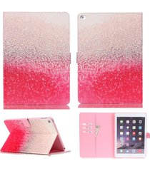 ipad mini 4 case,xyx [red desert] pu leather wallet case kickstand cover with bu
