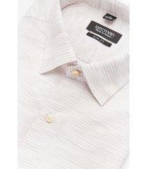 koszula versone 2911 długi rękaw slim fit beż