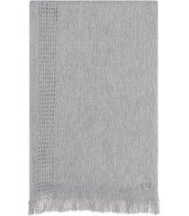 calvin klein cozy pointelle-knit scarf