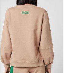 ganni women's software isoli sweatshirt - hazel - l